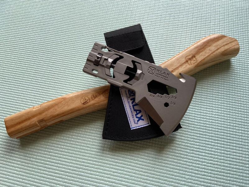 New Klecker Knives 3163 Klax Lumberjack Axe Multi Tool Nylon Sheath & Handle