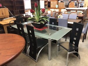 7 Piece Glass-Top Dining Suite Wangara Wanneroo Area Preview