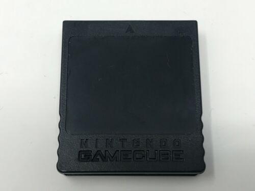 Official Nintendo GameCube Black Memory Card 251 Blocks (DOL-014) Genuine OEM