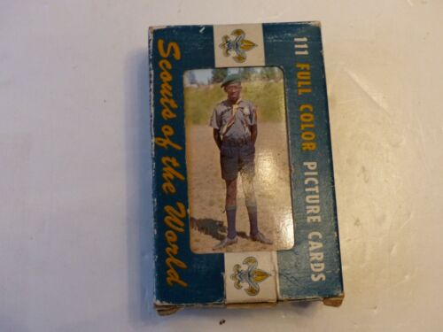 """Unused 1968 Complete Set of 111 Diff """"Scouts of the World"""" in Uniform Post Cards"""