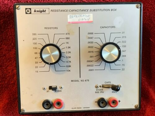 KNIGHT KG-675 RESISTANCE/CAPACITANCE SUBSTITUTION BOX