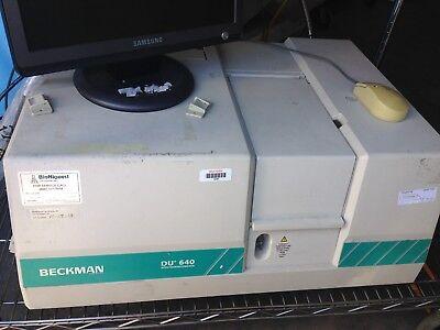 Beckman Du-640 Uvvis Spectrophotometer Spectrometer