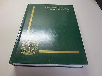 Kappa Delta Sorority Alumnae Directory 1995 Hardcover