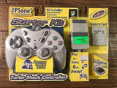 Intec Sony  Ps1   Playstation  Grey  Turbo Shock Controller   Starter Kit   New