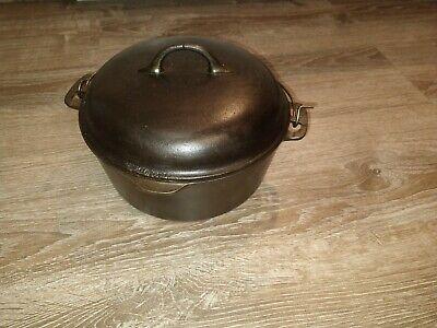 Vintage Antique Wagner Ware No 8 Dutch Oven 1268 J w/ trivet & Rare Dome Lid