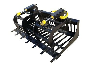 72 E-series Bobcat Rock Grapple Skidsteer Attachment Universal Quick Attach