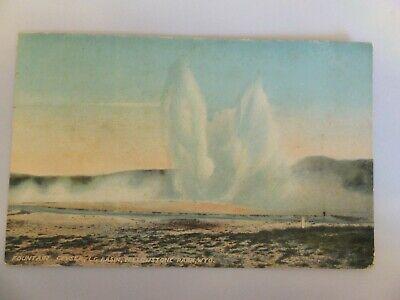 Yellowstone postcard - Acmegraph -  Fountain Geyser, LG basin