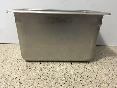 Vollrath 30462 6 Deep Super Pan V Stainless Steel Fourth-size Steam Table Pan