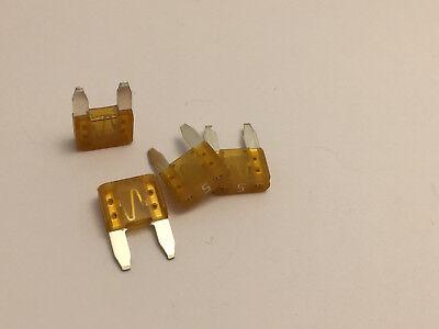 4 X 5 Amp Mini Fuse Orange 5a Atm Free Shipping