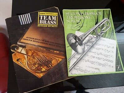 SECOND BOOK OF TROMBONE SOLOS + TEAM BRASS for sale  Rugeley
