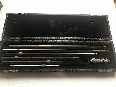 Vtg Craftsman No 4073 Inside Mic Micrometer Gauge Set Wbox Machinist Tool Usa