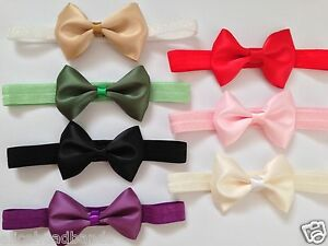 Double-Face-Satin-Single-Bow-Headband-Baby-Girl-Headbands-Toddler-Girls-Lot