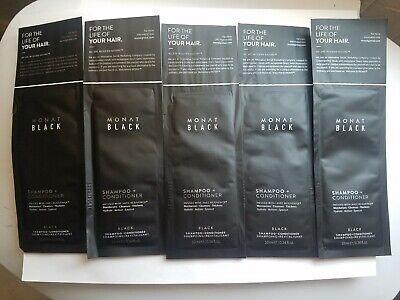 5 Sample Monat black shampoo conditioner 10ml 0.34 fl.oz FREE (Free Samples Shampoo Conditioner)