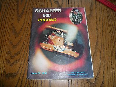 1976 Pocono Schaefer 500 - June 27, 1976 Souvenir Magazine
