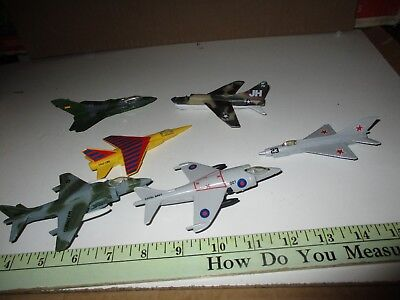Miniature Diecast Airplanes Assortment 6 pcs A-7, Harrier Mig 21, Tornado Mirage