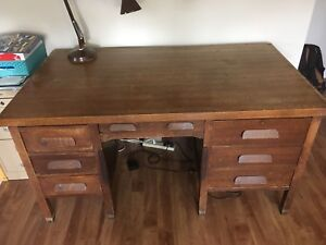 Antique office desk with unique features