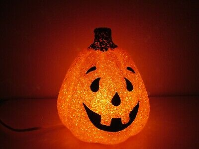 "Halloween Decor - Seasons Pumpkin JOL Jack O Lantern Blow Mold Light 7 3/4"" T"