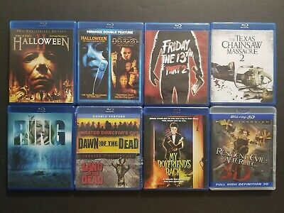 Horror Blu-ray Lot: Halloween Friday the 13th Texas Chainsaw Massacre The Ring