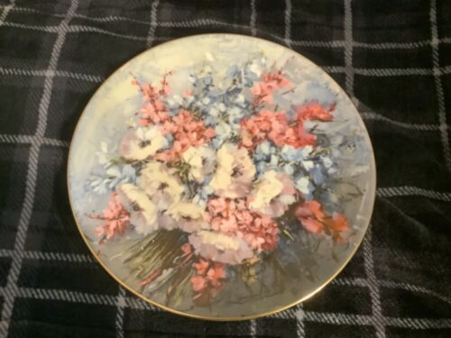 From My Mother's Garden Bone China Plate by Hahn Vidal Free Ship