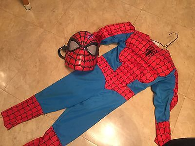 Spider-Man Halloween Costume with Muscle Chest--size 4-6 ( Dress Up Fantasy Pla)