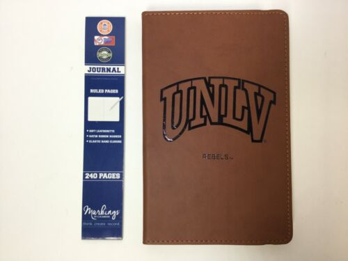 """UNLV Rebels Leatherette Journal, Brown, 5-1/4"""" x 8-3/8"""", C.R. Gibson"""