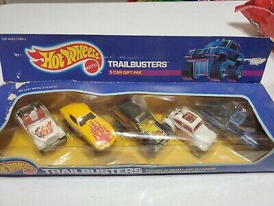 Hot Wheels 1987 Trailbusters 5 Car Gift Pack! Original Box!
