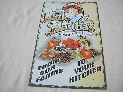 Large Vintage Little Martha's From Our Farms to Your Kitchen Metal Sign, Country
