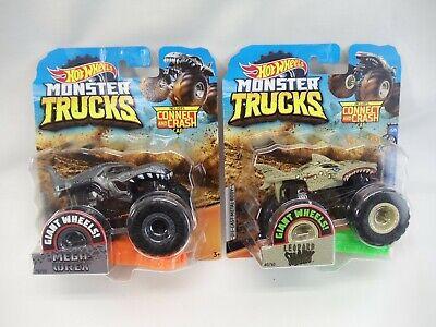 Hot Wheels Monster Trucks Leopard Shark and Mega Wrex LOT of 2
