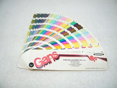 Gans Pantone Matching System 17th Edition 1983 - 1984 Color Formula Guide