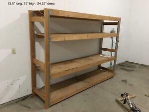 Shelving. Storage garage
