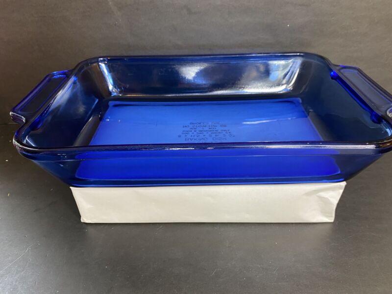 """Anchor Hocking 8"""" x 11"""" Cobalt Blue 2 Qt Baking / Casserole Dish"""
