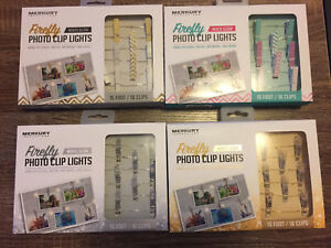 BNIB Firefly White Glow Photo Clip Lights!