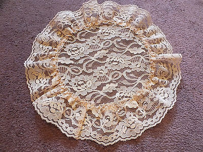 Collectible Beautiful Lace Doily Table Linen Light Peach 12 Inch Dainty NICE Doily Light Peach
