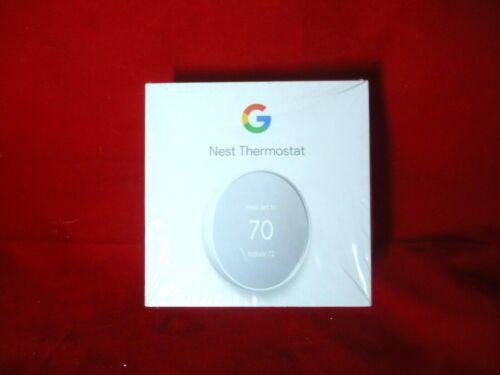 Google Nest Programmable Smart Wi-Fi Thermostat Sealed Box G4CVZ Color Snow