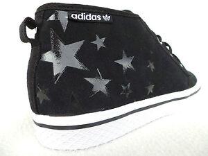 ADIDAS-Zapatos-Mujer-Negro-Estrella-Zapatillas-mandriles-Talla-36-2-3-40-41-42