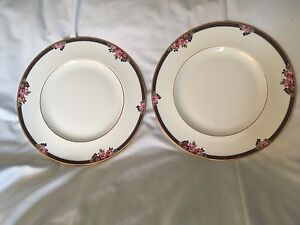 Pair of dinner plates St Michael Osborne fine bone china