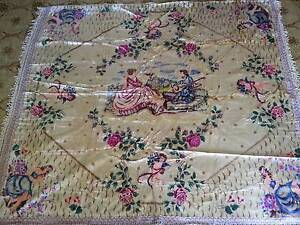 Vintage Italian Velvet Bedspread, Wallhanging or Rug c1950s Cannon Hill Brisbane South East Preview