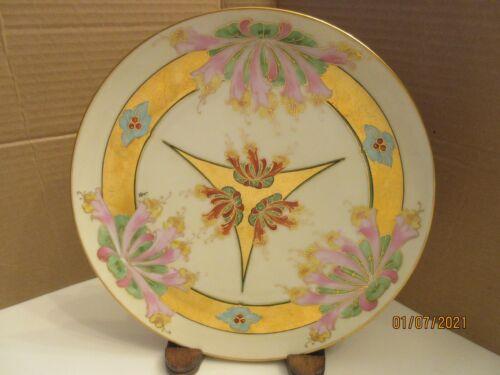 "VINTAGE PICKARD/BRAUER HANDPAINTED 9"" PLATE, CIRCA 1910, ARTIST SIGNED, J BRAUER"