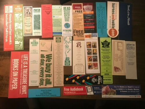Lot of 30 Bookstore Paper Bookmarks