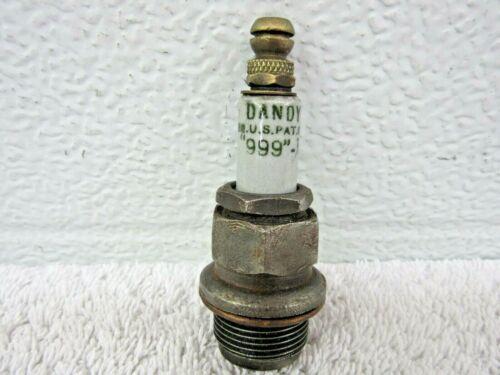 """Antique Vintage Dandy """"999"""" Spark Plug 7/8"""" thread Collectible  dp"""