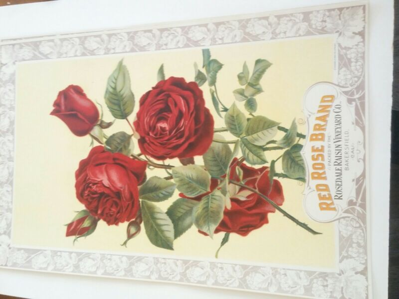 Red Rose Brand Crate Label