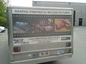 Mobile coffee catering truck advertising