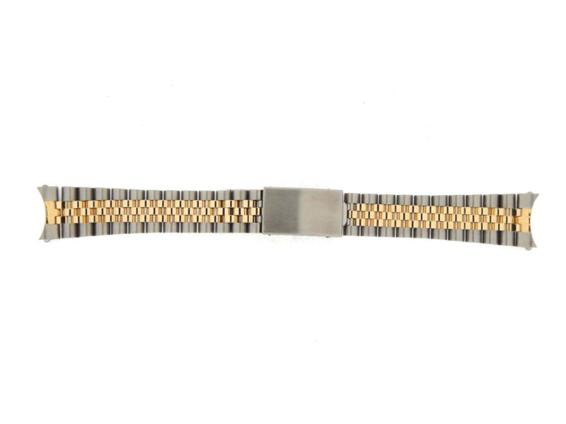 Aftermarket 20mm Mens 2tone 10k Gold/steel Jubilee Style Band For Rolex