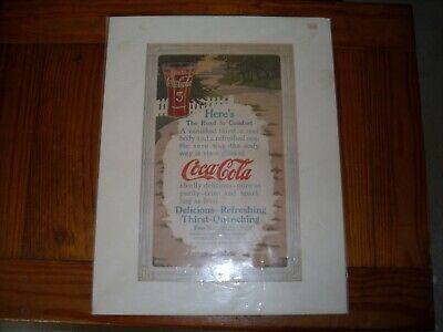 Coca Cola Road to Comfort Thirst Quenching 1912 antique decorative advertisement