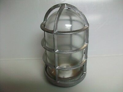 Nos Vintage Spero Vintage Explosion Proof Caged Light Fixture With Glass
