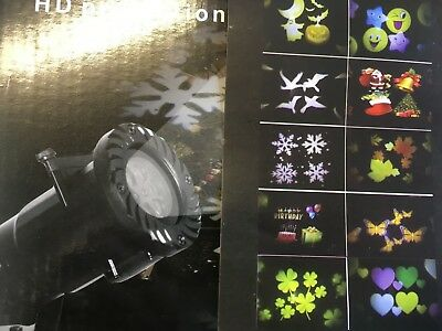 Halloween Projection Hd (T54 LED HD Outdoor Decoration Projection Spotlight * Halloween Xmas + Lights)