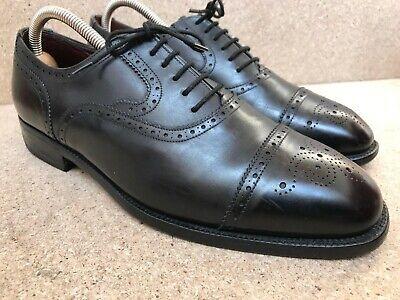 Church's Black Leather Masterclass Cap Toe Oxford Brogues UK 8 F | US 9 D