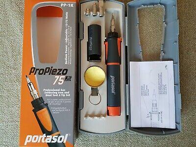 Portasol Pro Piezo 75 Gas Soldering Kit Pp-1k Medium Power Adjustable 15-75 Watt