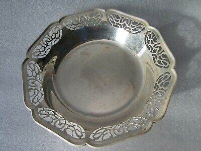 Original Antique Aesthetic Movement WMF Germany Reticulated Footed Bowl