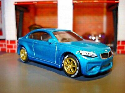 2016 16 BMW M2 CUSTOM EDITION SPORTS CAR 1/64 HW ADVAN WHEELS AND RIMS ADDED